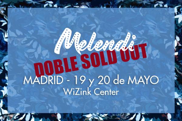 Doble sold out del concierto Quítate las gafas de Melendi en MADRID