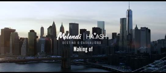 "Melendi publica el ""making of"" de ""Destino o casualidad"" feat. Ha*Ash"