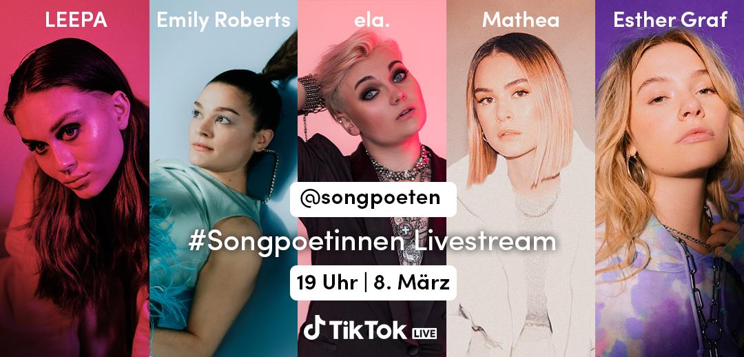 Weltfrauentag: Sony Music und TikTok präsentieren den  #Songpoetinnen-Showcase